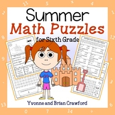Summer Math Puzzles - 6th Grade Common Core