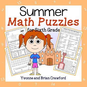 Summer Math Puzzles - 6th Grade Common Core