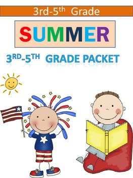 Summer Math Reinforcement Packet Students 3-5th Review packet
