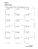 Summer Math Review Packet  Students Entering 7th Pre-Algebra