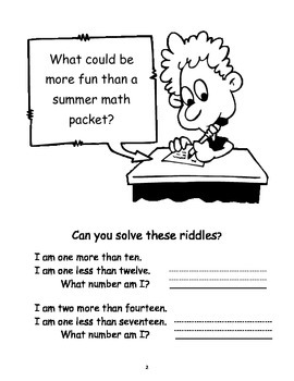 Summer Math Review Packet  Students Entering into 2nd Grade