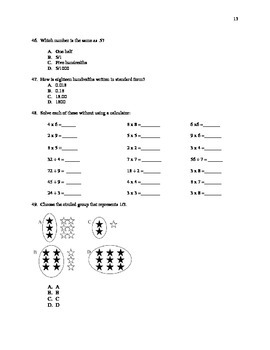 Summer Math Review Packet  Students Entering into 5th Grade