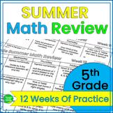 Summer Math Review 5th Grade