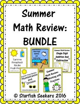 Summer Math Review: BUNDLE!
