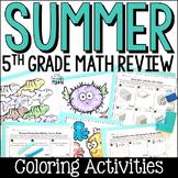 Summer Math Packet: Fifth Grade Math Review for Rising Sixth Graders