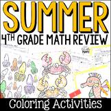 Summer Math Packet: Fourth Grade Math Review for Rising Fi