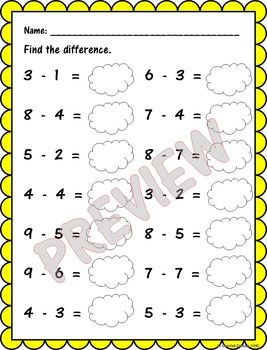 Summer Math Review: Single Digit Addition and Subtraction