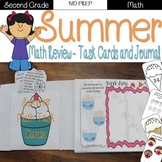 Summer Review: 2nd Grade Task Cards and Journal (Math) distance learning