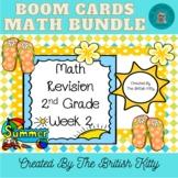 Summer Math Review Second Grade Bundle Week 2 BOOM CARDS