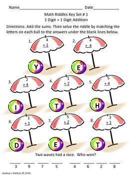 Summer Math Riddles (Addition)