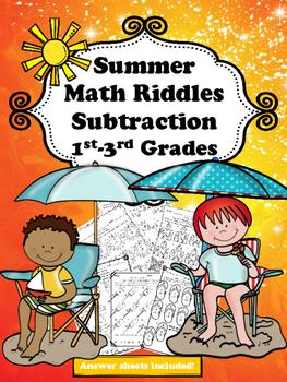 Summer Math Riddles (Subtraction)