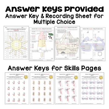 Summer Math Packet for Rising 5th Graders - Review of 4th Grade Math