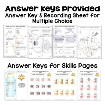 Summer Math Packet for Rising 6th Graders - Review of 5th Grade Math