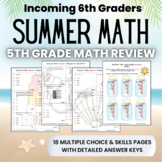 Summer Math Packet for Rising 6th Graders Review of 5th Grade Math