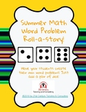Summer Math Roll-a-Math Word Problem! Digital Activity