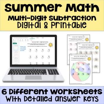 Summer Math - Subtraction