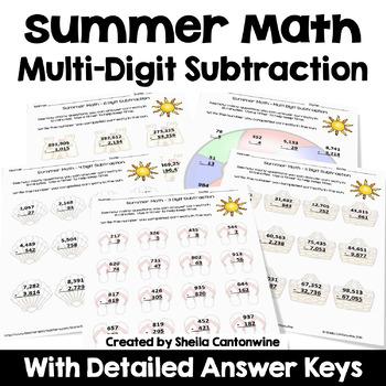 Summer Math - Subtraction
