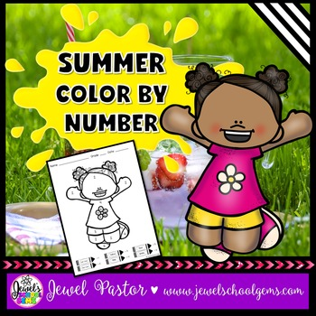 Summer Math Activities (Summer Color By Number)