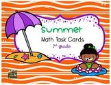 Summer Math Task Cards (2nd grade)