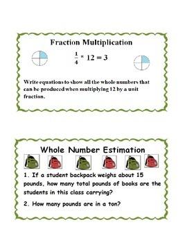 Math Task Cards Grade 4-5