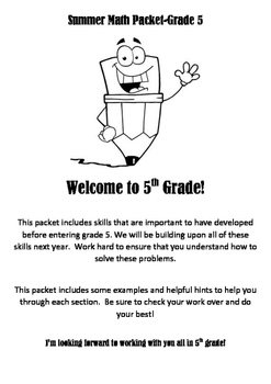 Summer Math Work Packet Grade 5