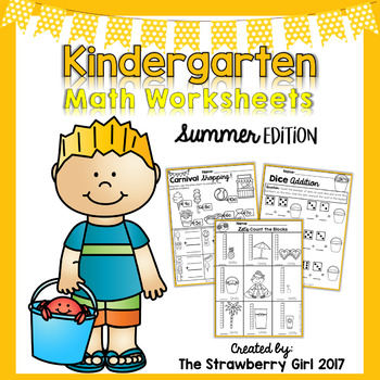 Kindergarten Math Worksheets - Summer