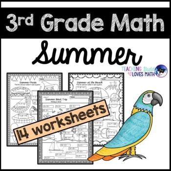 Summer Math Worksheets Teaching Resources | Teachers Pay Teachers