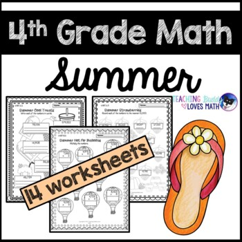 common core summer math packets 4th grade