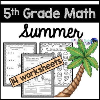 Summer Math Worksheets 5th Grade Common Core by Teaching Buddy Loves ...