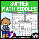 Summer Math Worksheets | Add. & Sub. | End of Year | Print & Google Classroom