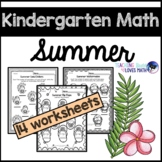 Summer Math Worksheets Kindergarten