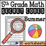 Summer Math Worksheets Secret Codes 5th Grade Common Core