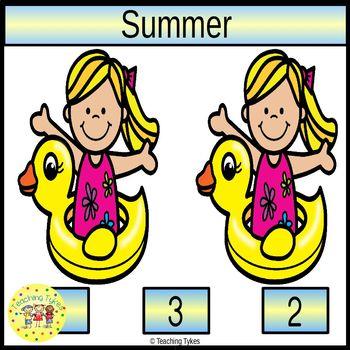 Summer Worksheets Emergent Reader Task Cards