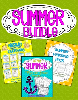 Summer Math and Literacy Bundle