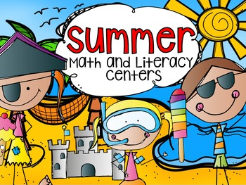 Summer Math and Literacy Centers {CCSS}