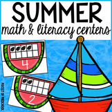 Summer Math and Literacy Centers for Preschool, Pre-K, and Kindergarten