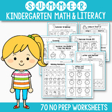 Summer Math and Literacy - End of the Year Activities for