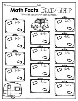 Summer Math and Literacy No-Prep {2nd Grade}