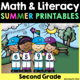 Summer Math & Literacy Printables {2nd Grade}