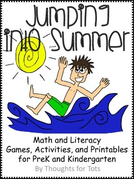 Summer Math and Literacy Packet, Games, Activities, and Printables
