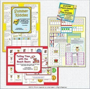 Summer Math and Literacy Bundle