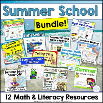 Summer Math and Literacy Bundle ~ Summer School Stash!