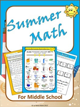 Summer Math for Middle School Math Review