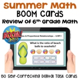Summer Math for Rising 7th Graders BOOM Cards