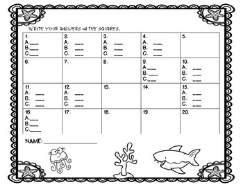 Summer Math Task Cards ( Review of 3rd grade)