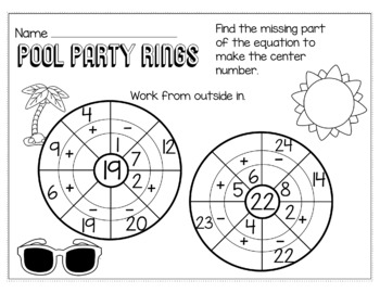 End of the Year May Math for 1st Grade - NO PREP Packet