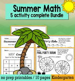 End of the Year May Math for Kindergarten - NO PREP Packet