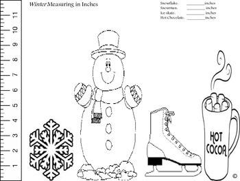 Seasonal Measuring Fun...in inches!