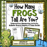 Summer Measuring --- How Many Frogs Tall Are You? Math Center