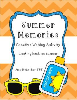 Summer Memories ~ Creative Writing